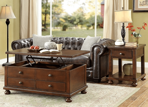 Belmont Collection (Lift Top Cocktail Table & End Table)