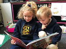 2nd and Kinder Reading Buddies Sept 2018
