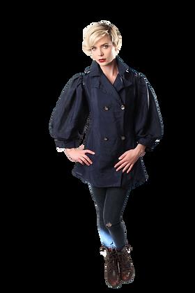 30's Linen Poet-Sleeve Jacket