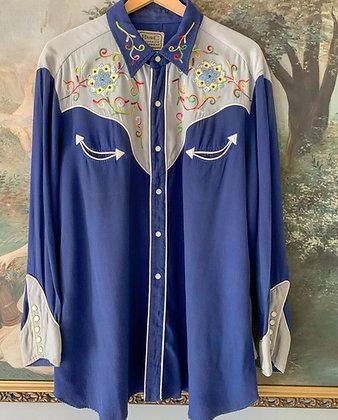 1950's H Bar C Men's Western Pearl Snap Shirt