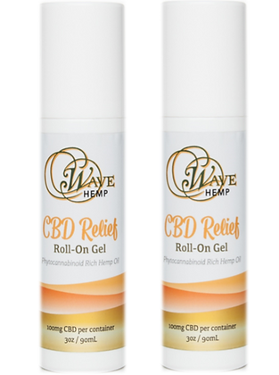 Buy 2 Wave Hemp CBD Relief Roll-On Gels