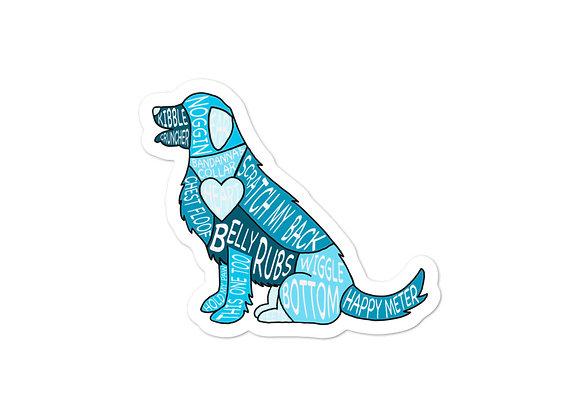 Anatomy of a Dog Sticker