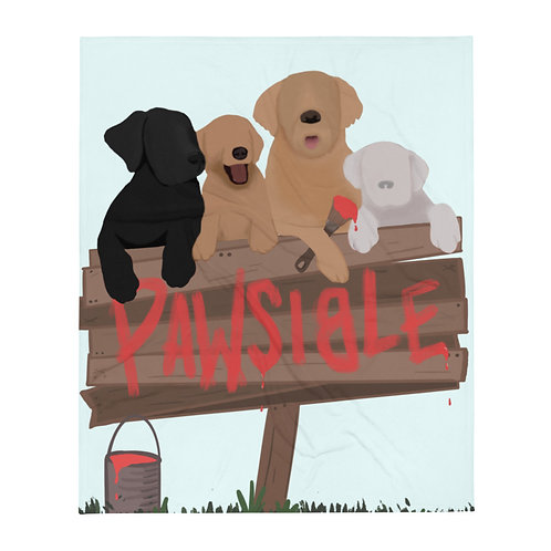 Pawsible Sign Throw Blanket