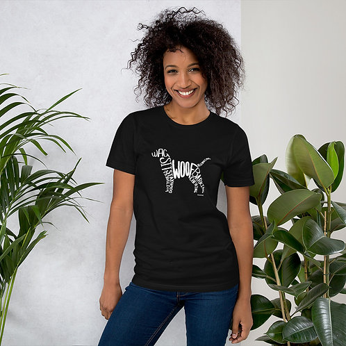 Dog Silhouette Short-Sleeve Unisex T-Shirt