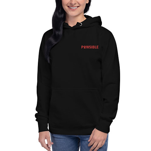 Pawsible Embroidered Unisex Hoodie