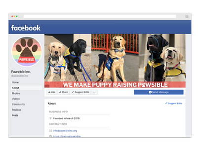 Pawsible Facebook Page