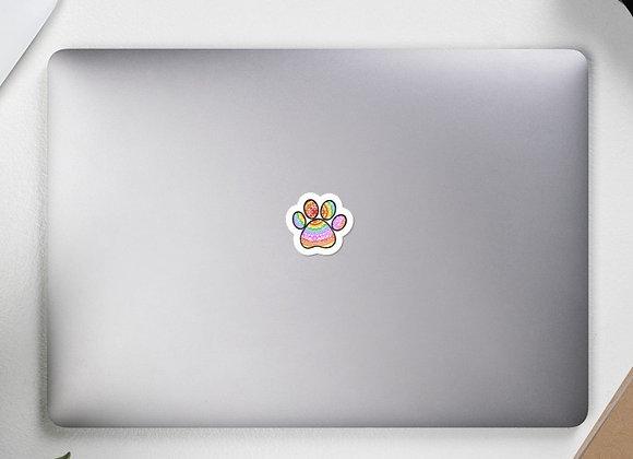 Rainbow PawPrint Sticker