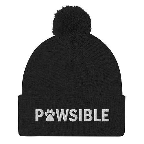 Pawsible Pom-Pom Beanie