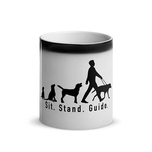 Sit. Stand. Guide. Glossy Magic Mug