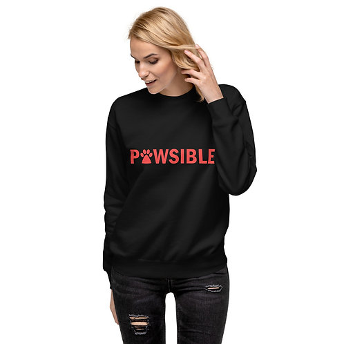 Pawsible Unisex Fleece Pullover - Red Logo
