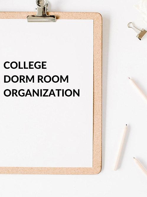 College Dorm Organization