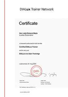 New DIALux Trainer Estanol Mejia Certifi