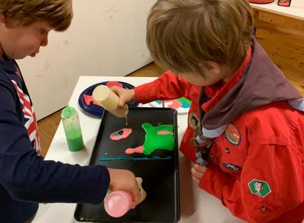 Bevers maken Pannenkoeken Kunst