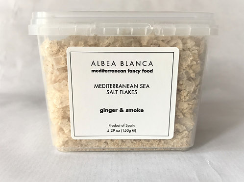 Sea Salt Flakes Smoke&Ginger - Albea Blanca (150g)