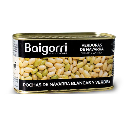 "White and Green ""Pochas"" Beans DO Navarra - Baigorri"
