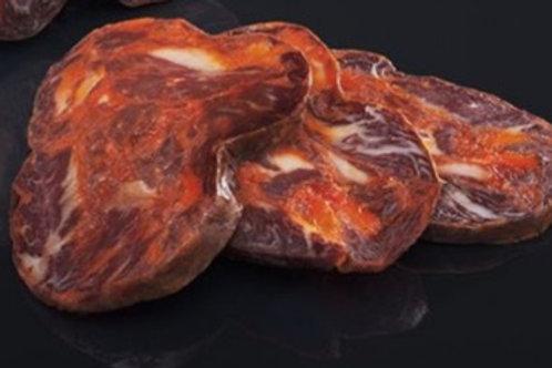 Morcon sliced Acorn-fed Pure Iberian (100g app)