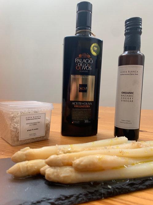 Asparagus+Olive Oil+Vinegar+salt MYSYBARITAS style
