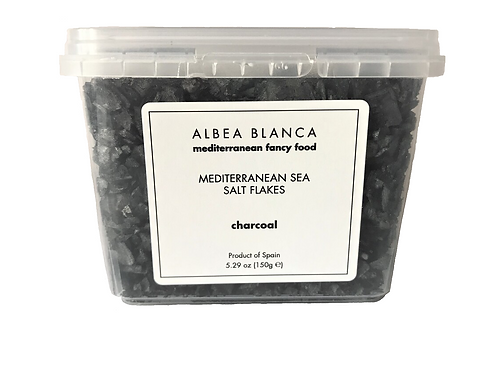 Sea Salt Flakes Charcoal - Albea Blanca (150g)