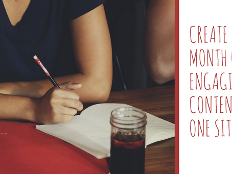 Guest Blog: Create a Month of Engaging Content in One Sitting