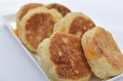 Cheddar Cheese Stuffed English Muffins