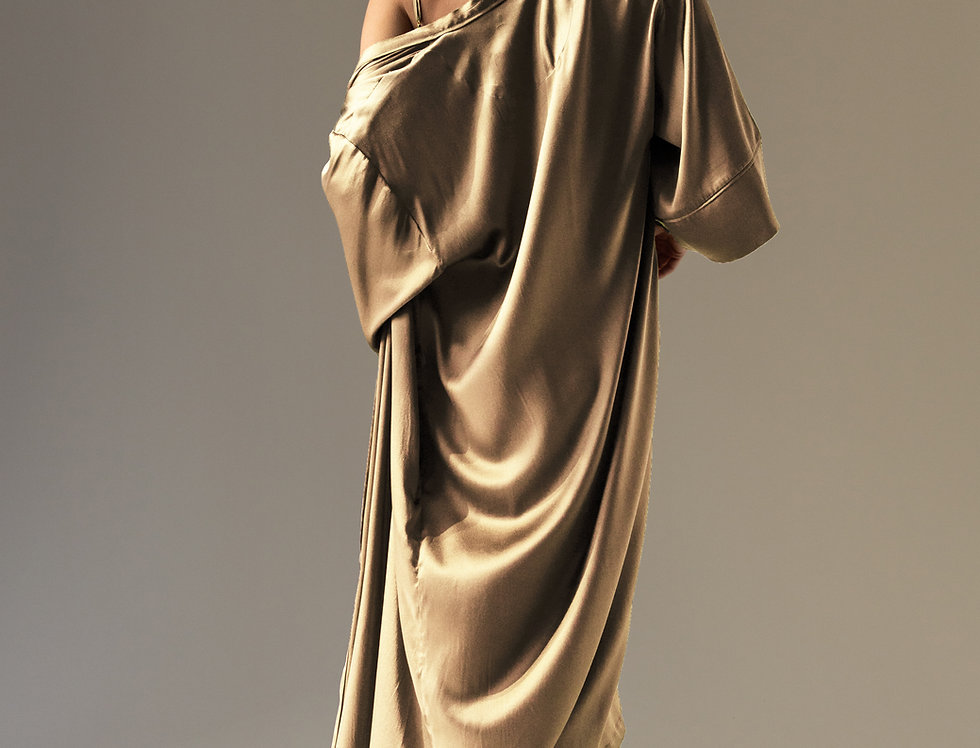 Silk Robe - Golden