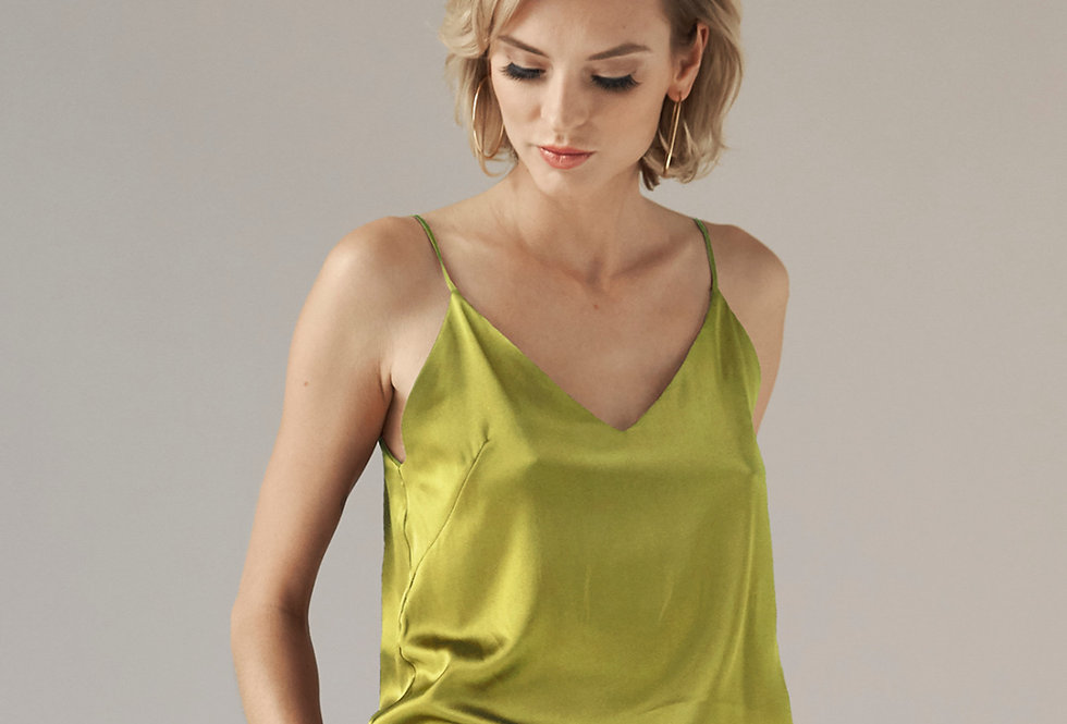 Silk Cami - Chartreuse