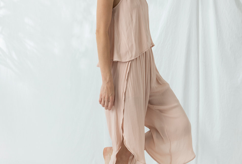 Lola Cropped Pant - Pink Champagne