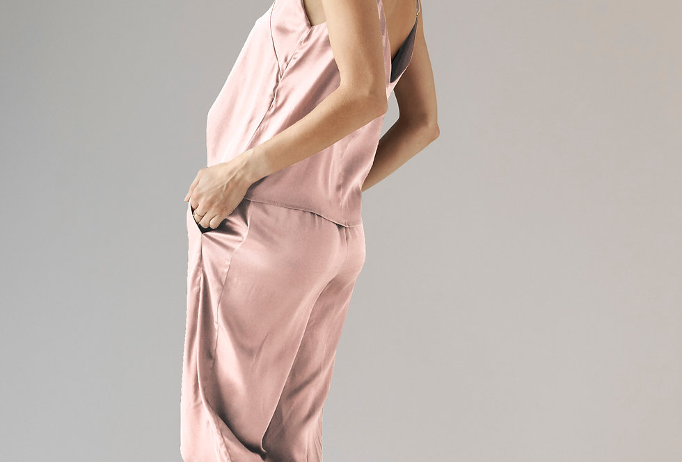 Silk Jogger - Pink Frost