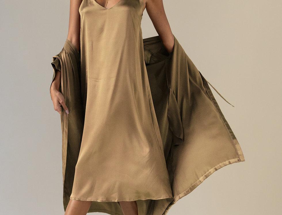 Silk Gown - Golden