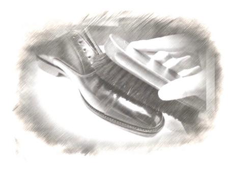 """4/7  sat  """"靴磨き講座"""" ワークショップ"""