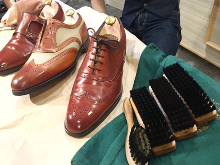 """Workshop report ① 4/7""""shoes care""""    追記有り"""