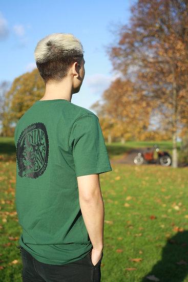 Nine Lives Logo Tee / Bottle Green