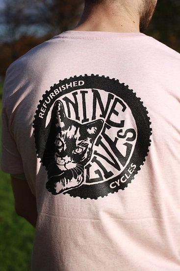 Nine Lives Logo Tee / Heather Pink