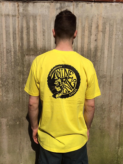 Nine Lives Logo Tee / Yellow
