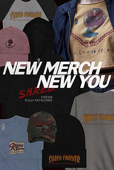 vertical image consisting of a collage of different apparel options.
