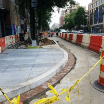 Installation of Granite Curb and Brick Gutter at the SE corner of Rhode Island Ave