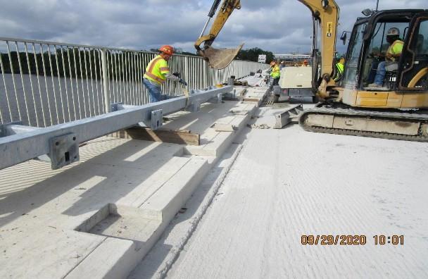 Historic Railing Installation, South Bridge.