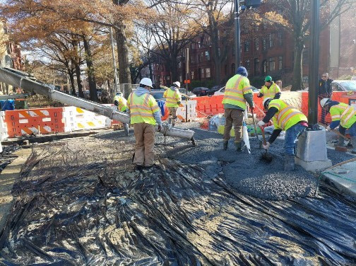 Placing PCC Sidewalk at the NE Corner of 14th and Rhode Island Ave