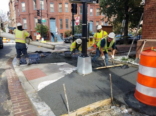 Placing PCC Sidewalk at SE corner of 14th and N Street