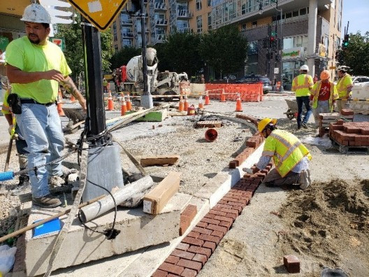 DEN crew also placed Brick Gutter at SWC of Near 2300 Block 14th St. NW.
