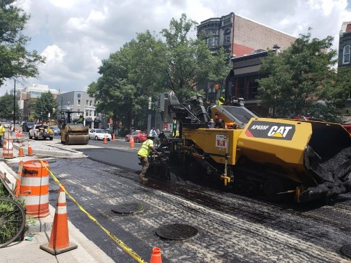 FMCC paving operations from Rhode Island Ave to N St. NW