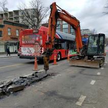 Demo of existing asphalt between N Street and Rhode Island Ave
