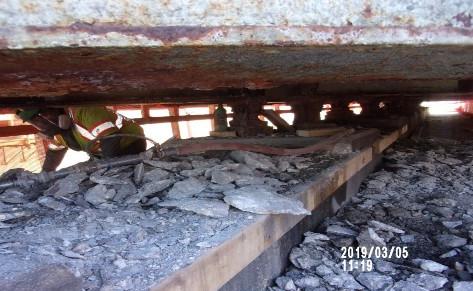 Demolition of portion of Bridge 1016 Pier Cap