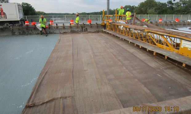 Latex Modified Concrete Overlay South Bridge