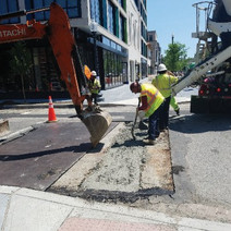 PCC Base placed at 14th & Riggs St atop encased PVC conduit run
