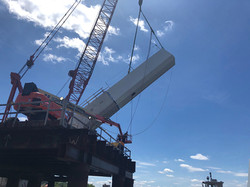 V-Pier 2 - Start center arch erection
