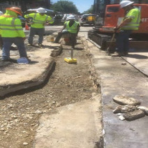 Compaction Testing of Aggregate Base Material between Wallach and U Street