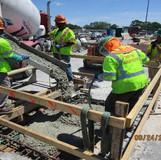 Concrete Placement for Scuppers, South Bridge.