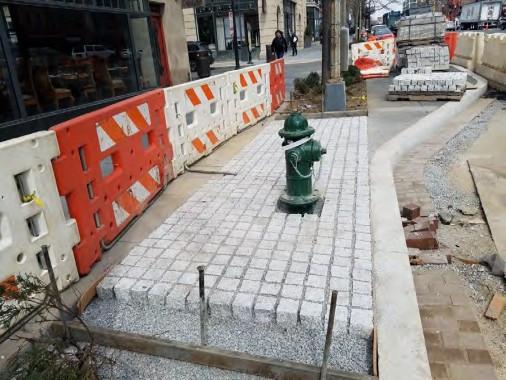 Installation Granite Cobble Stone