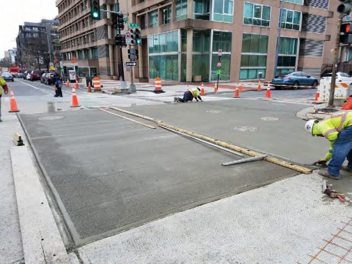 PCC Pavement Repair between V Street and W Street